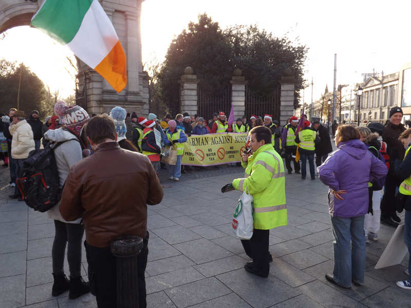 Wexford protestors at Stephen