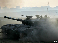 Israeli tank following orders in Gaza