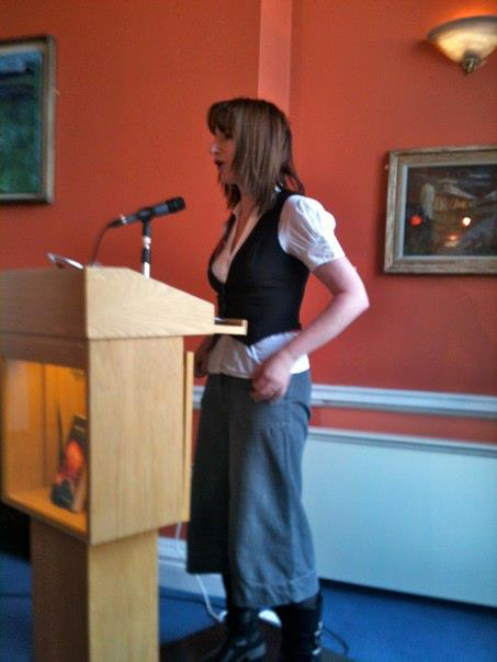 Clare Daly speaking at Dublin launch of Mentioning the War