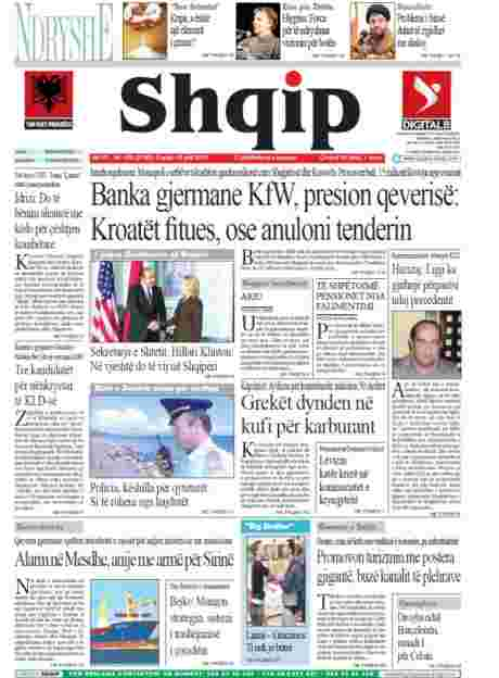 'Mentioning the War' features in a number of Albanian national daily newspapers