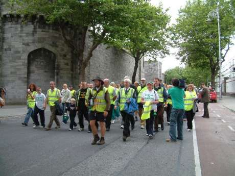 Walk Leaves Kilmainham Jail on final Leg