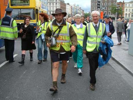 Walk Arrives on O'Connell Street