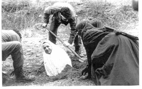 Iranian Woman About To Be Stoned To Death.