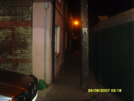 SCAREY PLACE AT NIGHT,SPECIALLY IF YOUR 80YRS OLD
