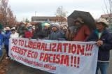 LEADERS FROM THE SOUTH PROTEST AGAINST WWF INTERNATIONAL - No to liberalization, resist eco fascism