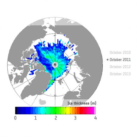 Autum sea Ice thickness - 2011