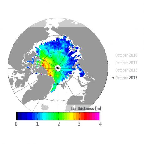 Autum sea Ice thickness - 2013