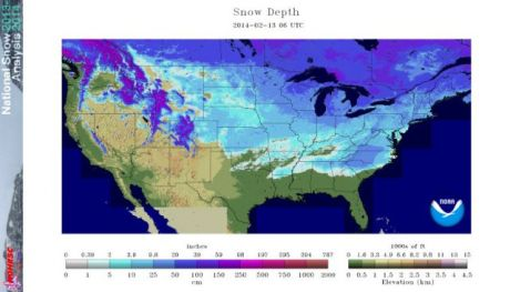 Here's the current US snow map. Note Florida has no snow. <br>Alaska, not shown, does, and Hawaii, not shown, does