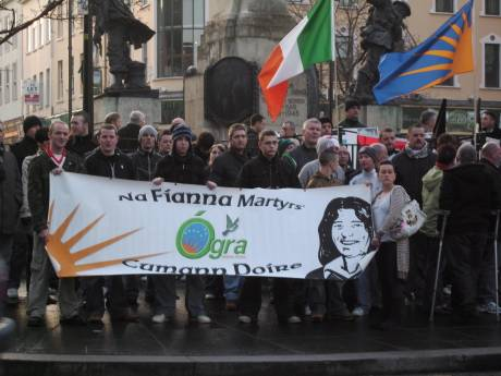 New Year''s Eve Protest in Derry