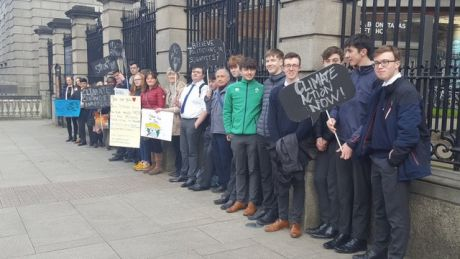 Students from three local schools join the weekly Friday for Future Climate Strike in Dublin