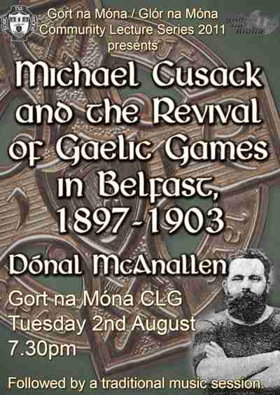 Michael Cusack and the Revival of Gaelic Games in Belfast
