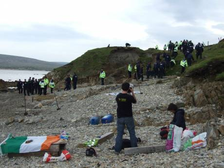57 or so Gardai Shell Dána on the beach below camp, last Fri. Doesn't beat FSB!'s record of 63!