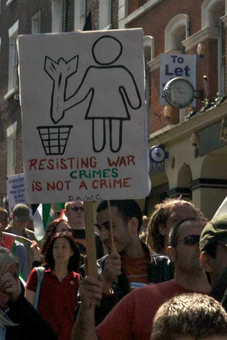 """Resisting War Crimes is not a Crime"""