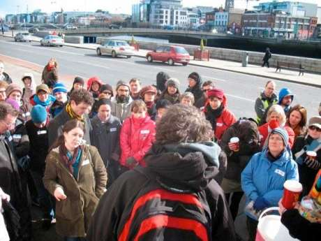The start of the 2009 walking tour