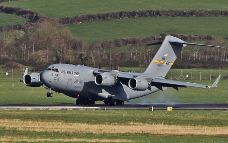 This was just one of the US military planes at Shannon today