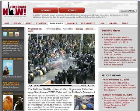 Democracy now celebrates the anniversary and keeps on investigating
