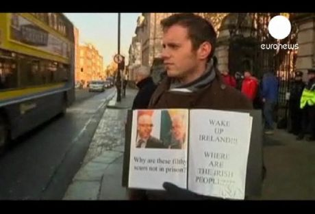 "Where are the Irish people? - The Euronews ""WAKE UP IRELAND"" protester"